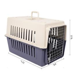 16In Small Cat & Dog Travel Portable Plastic Crate Pet Carri