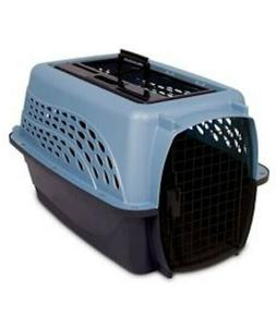 Petmate Medium 2-Door Top Load Pet Kennel Blue Animal Dog an