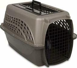 Petmate 2 Door Top Load Kennel Metallic Pearl Tan/ Coffee Gr