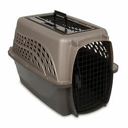2 Door Top Load Kennel - Tan/Coffee - 24 in.
