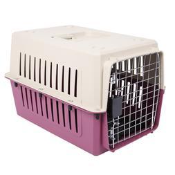 "20"" Pet Carrier Puppy Cat & Dog Portable Travel Plastic Crat"