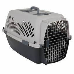 Pet Carrier 26 in. Beige Small Sturdy Plastic For 15-25 lbs.