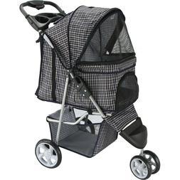 Paws & Pals 3 Wheeler Elite Jogger Pet Stroller Cat/Dog Easy
