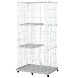 4-Tier Large Wire Pet Cage Playpen for Cats Outdoor Indoor U