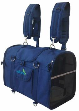 NATUVALLE 6-IN-1 STURDY PET CARRIER BACKPACK SIZE LARGE BRAN