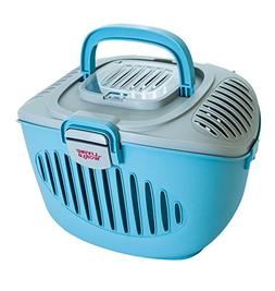 Living World 60898 Paws2Go Small Animal Carrier, Grey/Blue