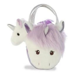 "7"" Fancy Pal Heather Unicorn Horse Pet Carrier Purse Stuffed"