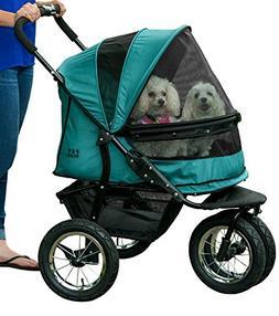Pet Gear NO-ZIP Double Pet Stroller, Zipperless Entry, for S