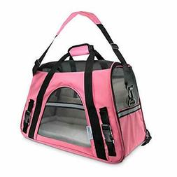 oxgord Airline Approved Pet Carrier SMALL 10 LBS] pink - Sof