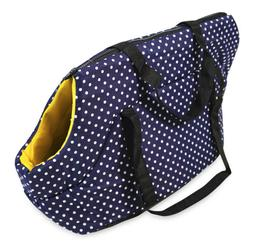 Blue Polka Dot Pet Carrier Tote Purse Handbag for Dogs Cats