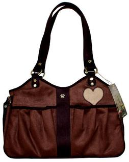 Pet Flys Bon Ami Baby Doe Tote-Coffe Suede with Chocolate Br