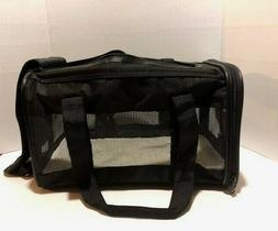 brand new black soft sided pet carrier