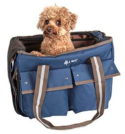 PET LIFE Mult-Pocketed Canvas Fashion Designer Travel Pet Do