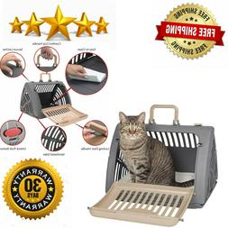 SportPet Designs Travel Cat Carrier Front Door Plastic Colla