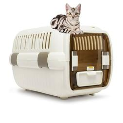 Cat Travel Crate Small Dog Pet Carrier Plastic & Wire Kennel