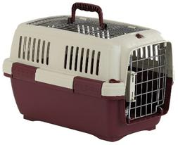 Marchioro Clipper Aran 1 Pet Carrier, 19.5-inches, Tan/Wine
