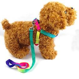 BOSUNColorful Nylon Dog Harnes s& Leash Set Puppy & Cat Harn