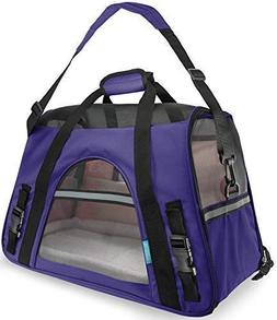 OxGord Small Comfort Carrier Soft-Sided Pet Carrier , Purple
