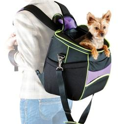 K&H Manufacturing Comfy Go Backpack Carrier Purple/Black/Lim