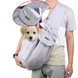 Cotton Pet Dog Sling Carrier Bag Travel Tote Cat Front Shoul