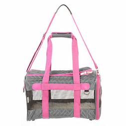 Sherpa Original Deluxe Pet Carrier in Gray & Pink, Medium, G