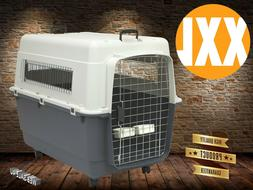 Deluxe XX Large Dog Travel Crate Kennel Pet Carrier Portable
