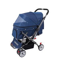 DODOPET - Dog/Cat/Pet Stroller, 4 Wheel Dog Cage Stroller, R