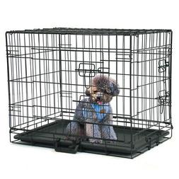 Dog Cage Pet Puppy Crate Carrier Home Folding Door Training