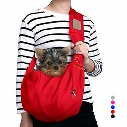 TOMKAS Small Dog Cat Carrier Sling Hands-Free Pet Puppy Outd