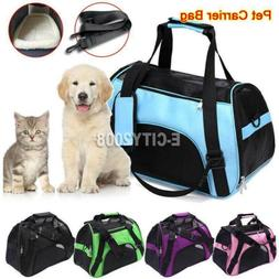 Dog Cat Pet Puppy Fabric Portable Carrier Crate Kennel Bag C