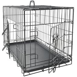 "Paws & Pals 42"" XX-Large Dog Crate, Double-Doors Folding Met"