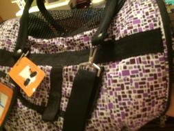 Dog in cabin carry on Pet Carrier new purple