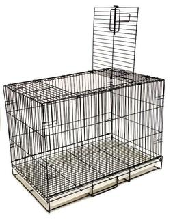 Dog Training Cage Crate Puppy Folding Pet Kennel Small Black