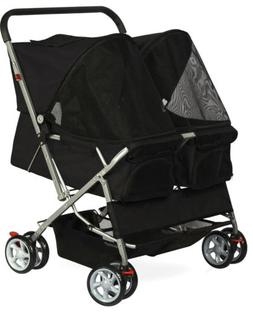 Double Dog Stroller - Pet Strollers for Small Medium Dogs Ca