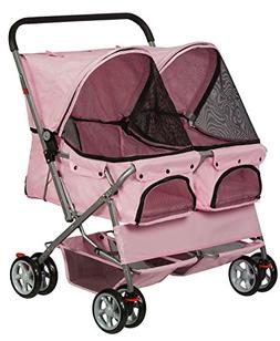 Paws & Pals Double Dog Stroller - Pet Strollers for Small Me