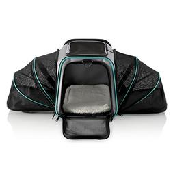 Dual Expandable Pet Carrier with Soft Sided Crate for Small