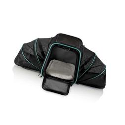Pawdle Dual Expandable Pet Carrier with Soft Sided Crate for