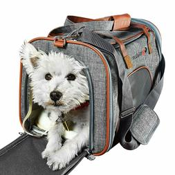 E ESS & CRAFT Soft Airline-Approved Grey Pet Carrier