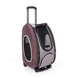 EVA Pet Wheeled Carrier - Brown