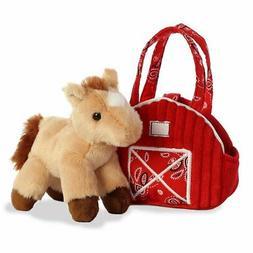"Aurora - Fancy Pals - Pet Carrier - Red Barn w/ Horse - 7"""