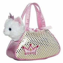 Aurora World Fancy Pals Plush Princess Kitty Pet Carrier Pur