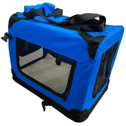Foldable Pet Carrier Soft Sided Large Comfort Travel Bag Air