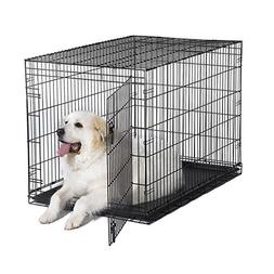 "New World 48"" Folding Metal Dog Crate, Includes Leak-Proof P"