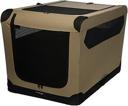 AmazonBasics Folding Soft Dog Crate for Crate-Trained Dogs,