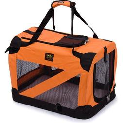 Pet Life Orange Vista View Collapsible Carrier XL