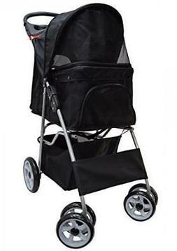 VIVO Four Wheel Pet Stroller, for Cat, Dog and More, Foldabl