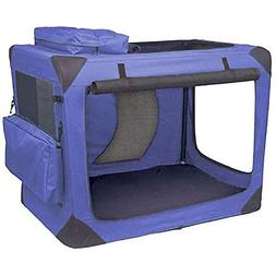 """Pet Gear Generation II Deluxe Portable Soft Crate 30"""" Blue-i"""
