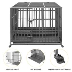 Heavy Duty Jumbo Dog Cage Pet Puppy Crate Carrier Home 3 Doo