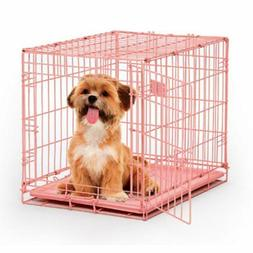 "Midwest iCrate Single Door Dog Crate Pink 24"" x 18"" x 19"""