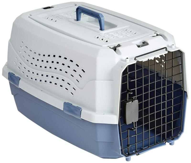 23 two door top load pet kennel